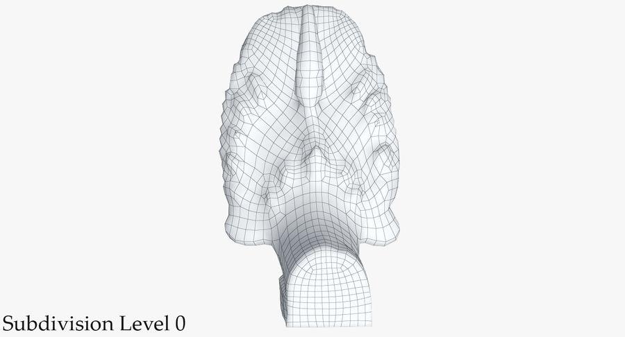 Rzeźba Ankor Wat Snake royalty-free 3d model - Preview no. 26