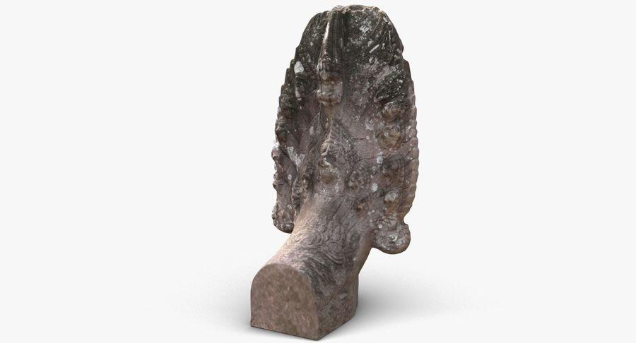 Rzeźba Ankor Wat Snake royalty-free 3d model - Preview no. 5