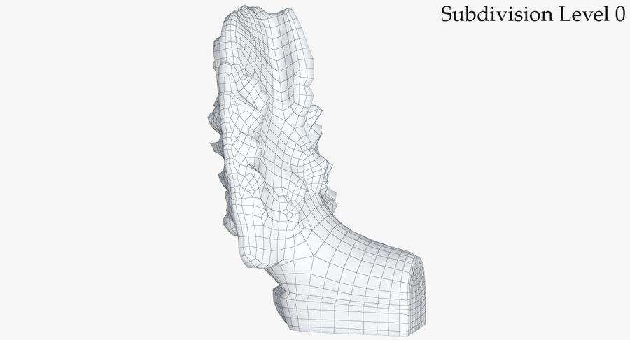 Rzeźba Ankor Wat Snake royalty-free 3d model - Preview no. 20
