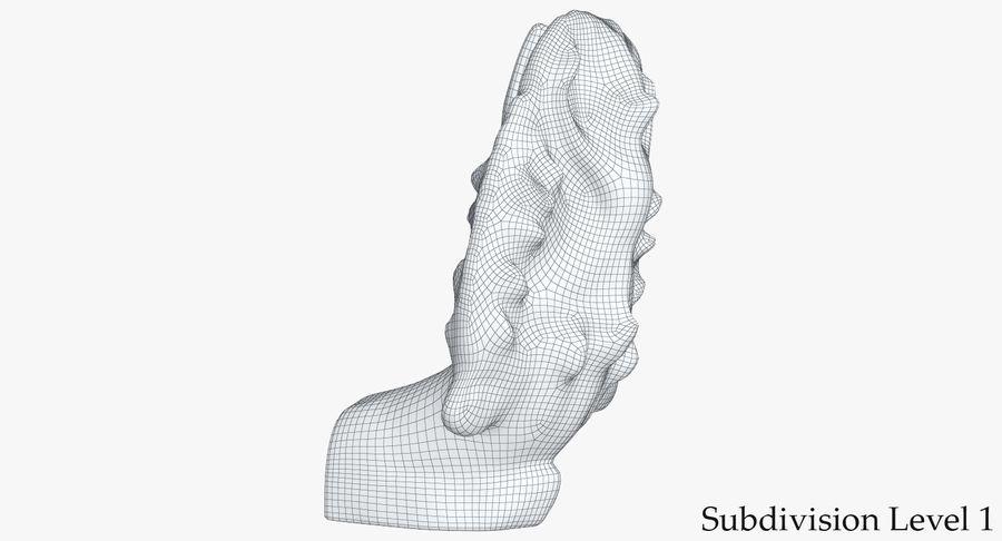 Rzeźba Ankor Wat Snake royalty-free 3d model - Preview no. 15