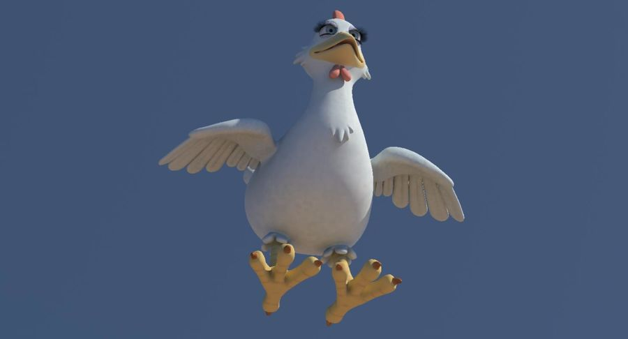 Chicken royalty-free 3d model - Preview no. 9