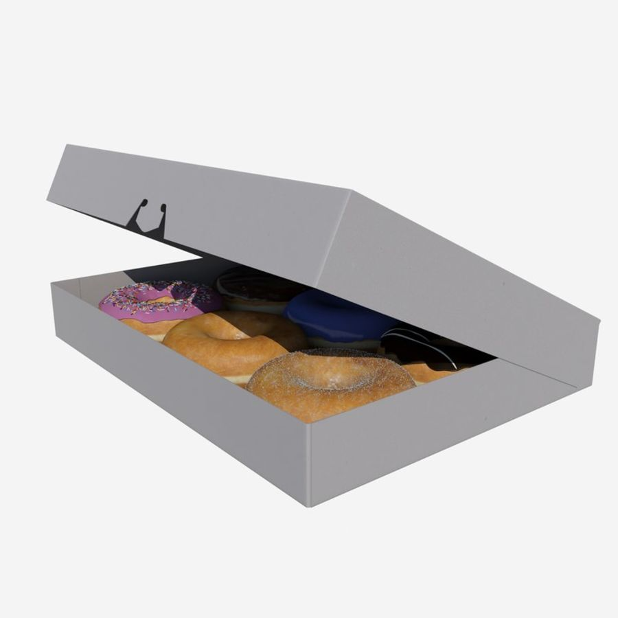 Box of Donuts royalty-free 3d model - Preview no. 6