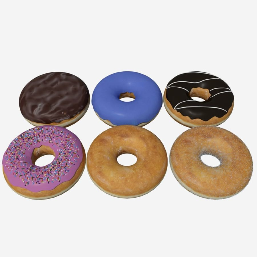 Box of Donuts royalty-free 3d model - Preview no. 2