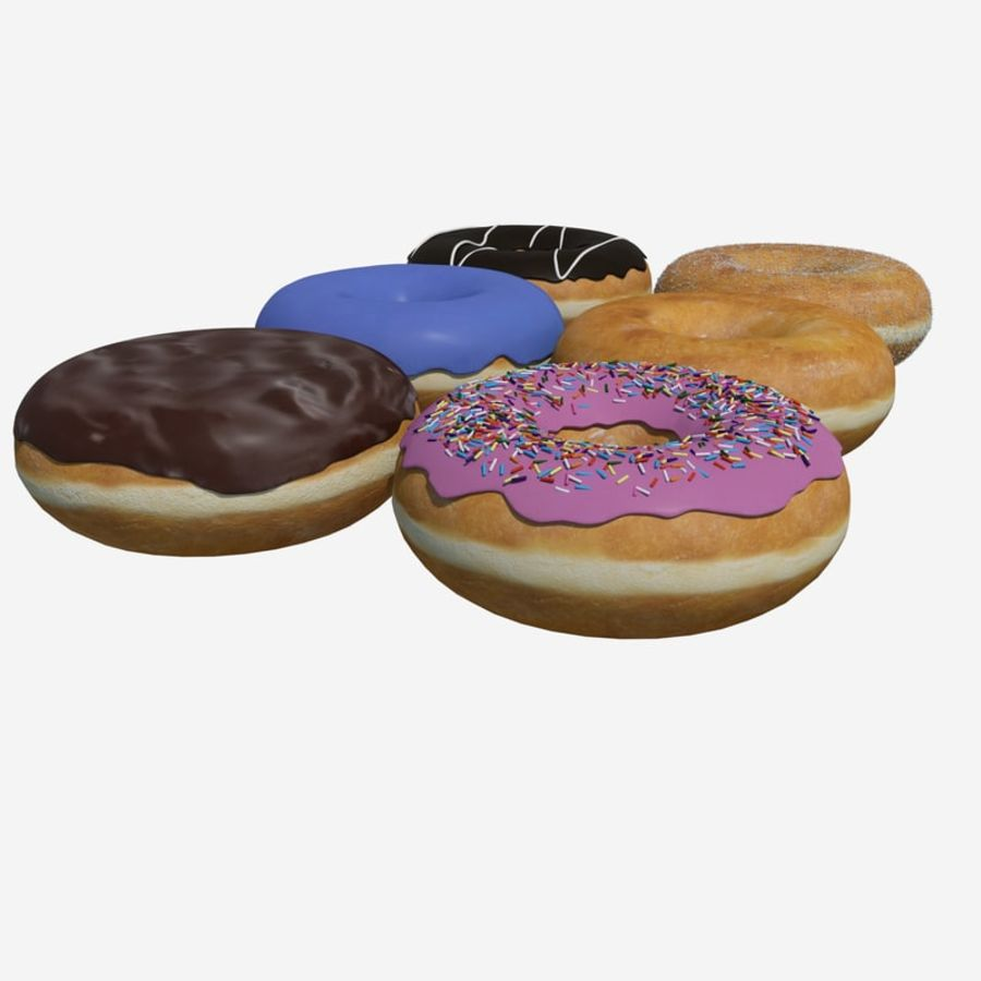 Box of Donuts royalty-free 3d model - Preview no. 3