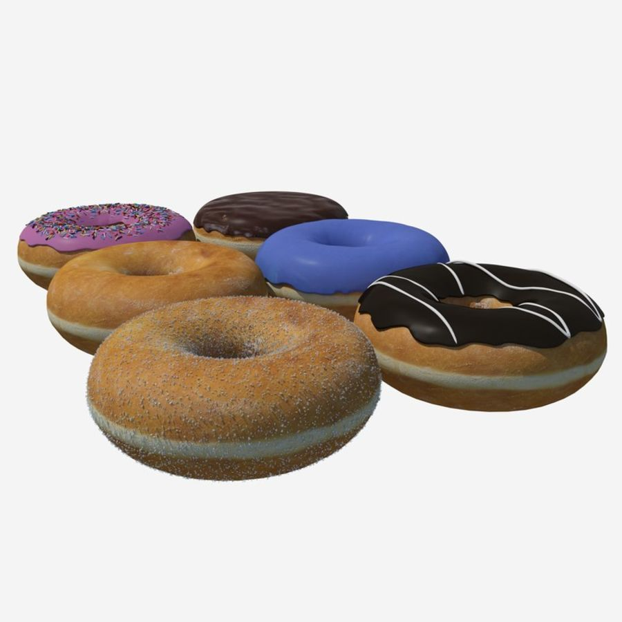 Box of Donuts royalty-free 3d model - Preview no. 4