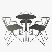 Fermob Flower Table Chair 3d model