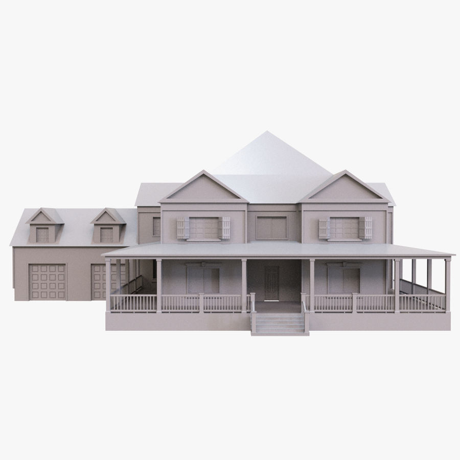 Story House royalty-free 3d model - Preview no. 3