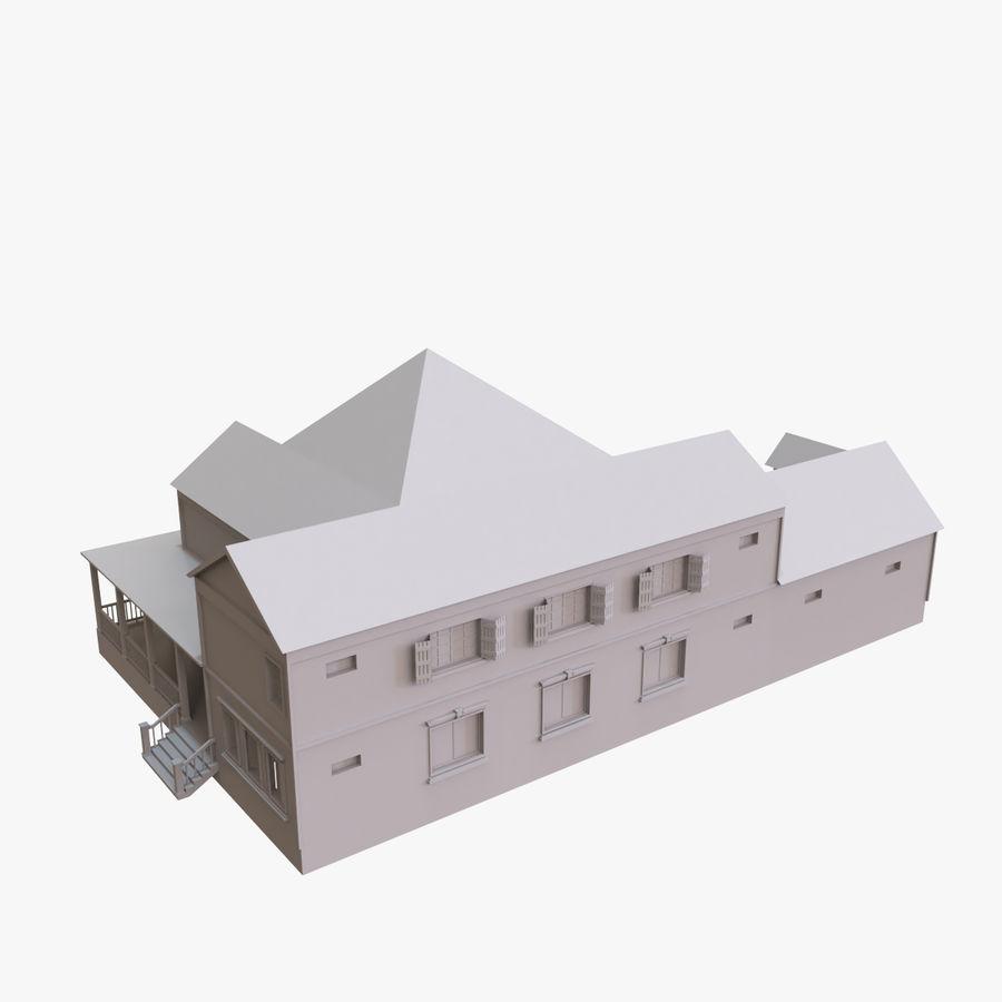 스토리 하우스 royalty-free 3d model - Preview no. 2