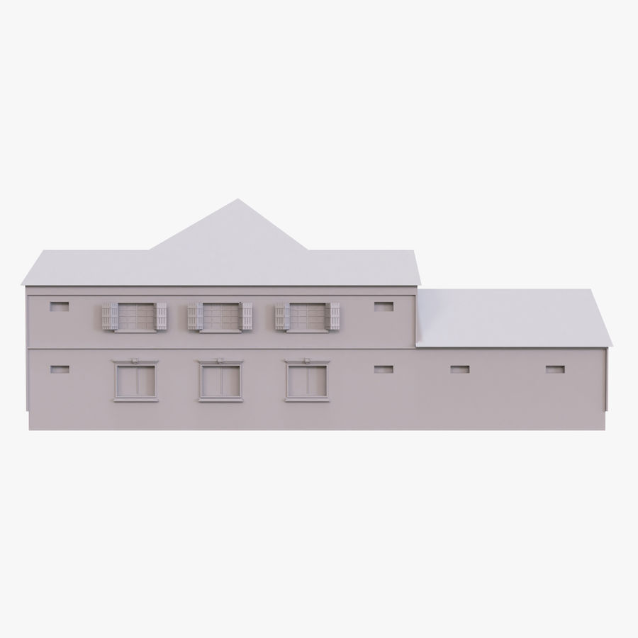 Story House royalty-free 3d model - Preview no. 4