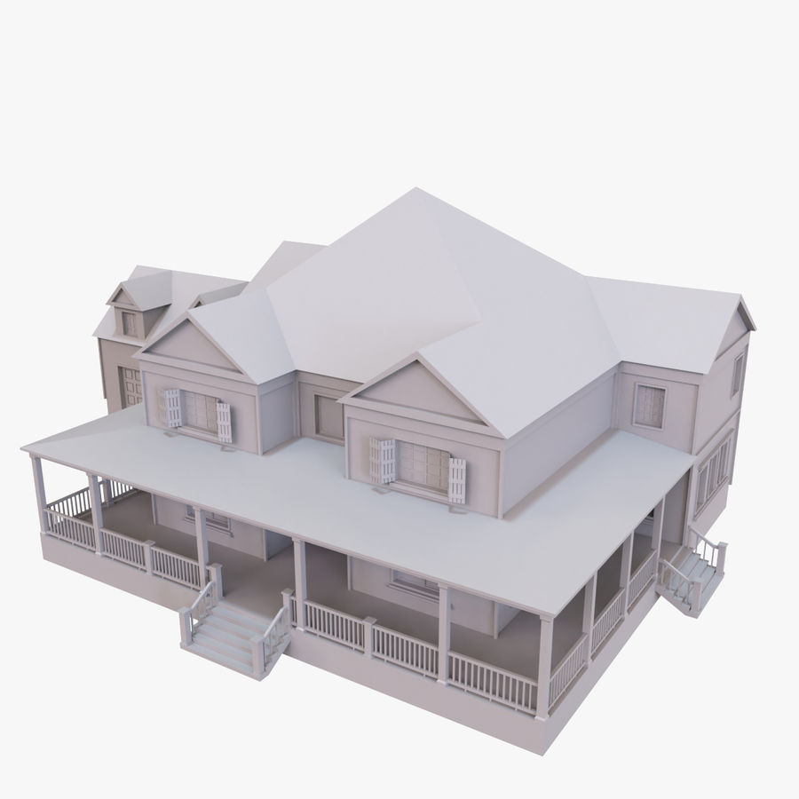 Story House royalty-free 3d model - Preview no. 1