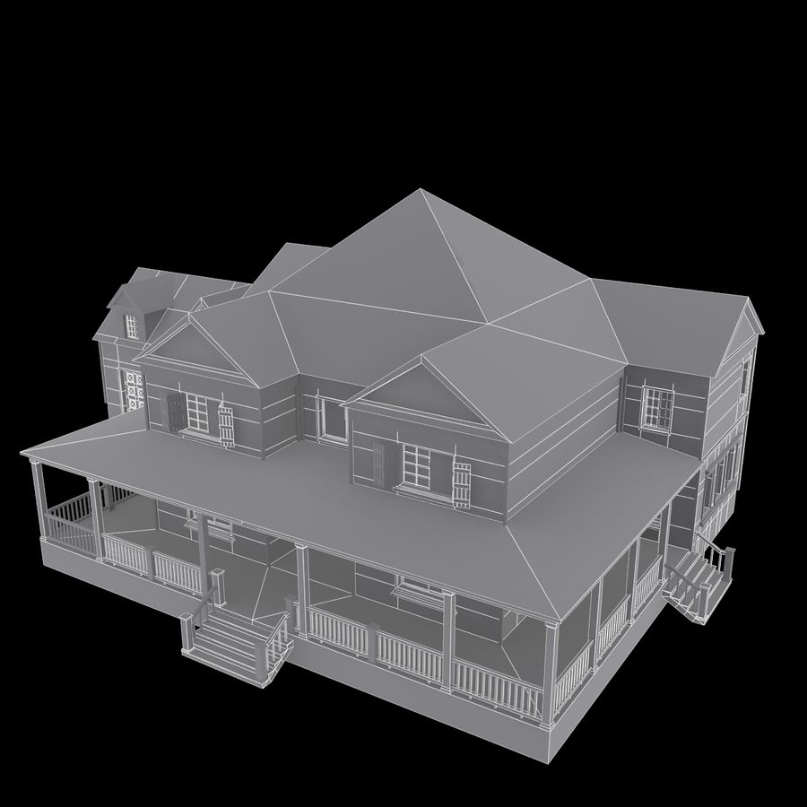 Story House royalty-free 3d model - Preview no. 6