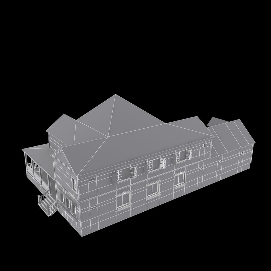 Story House royalty-free 3d model - Preview no. 5