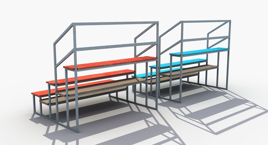 Stade Banc 3 royalty-free 3d model - Preview no. 5