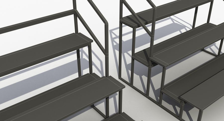 Stade Banc 3 royalty-free 3d model - Preview no. 11