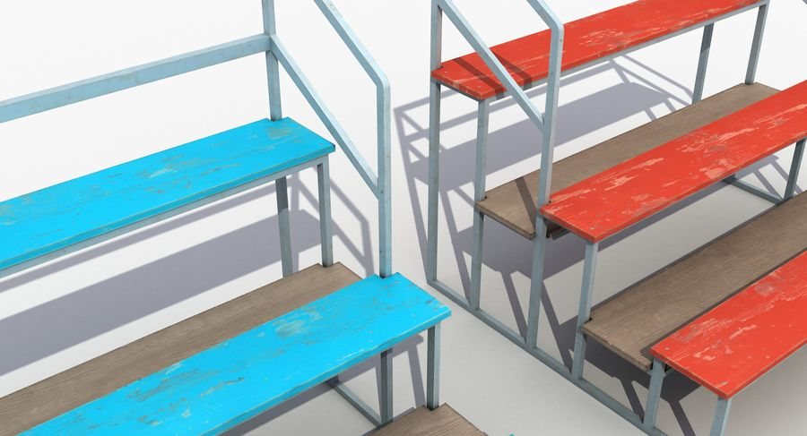 Stade Banc 3 royalty-free 3d model - Preview no. 8
