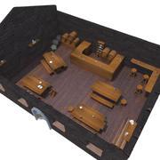 中世纪酒馆套 3d model
