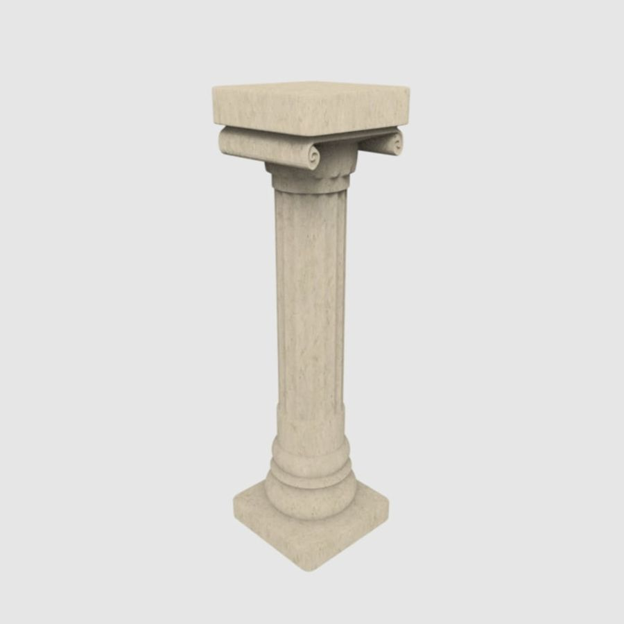 Pillar royalty-free 3d model - Preview no. 3