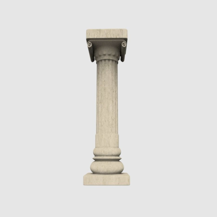 Pillar royalty-free 3d model - Preview no. 6