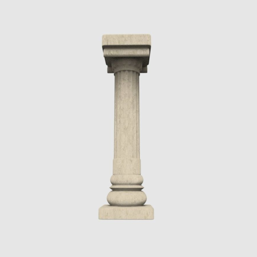 Pillar royalty-free 3d model - Preview no. 4