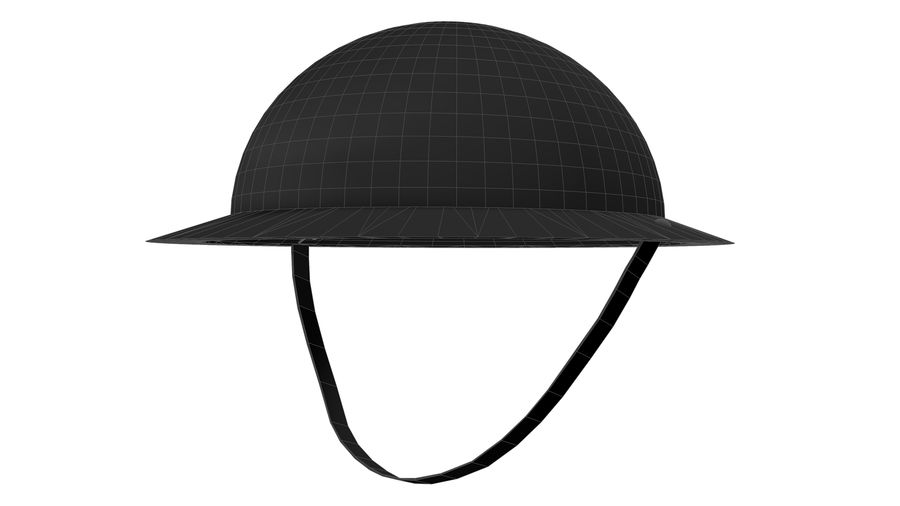Brodie Helmet (WW1) royalty-free 3d model - Preview no. 12