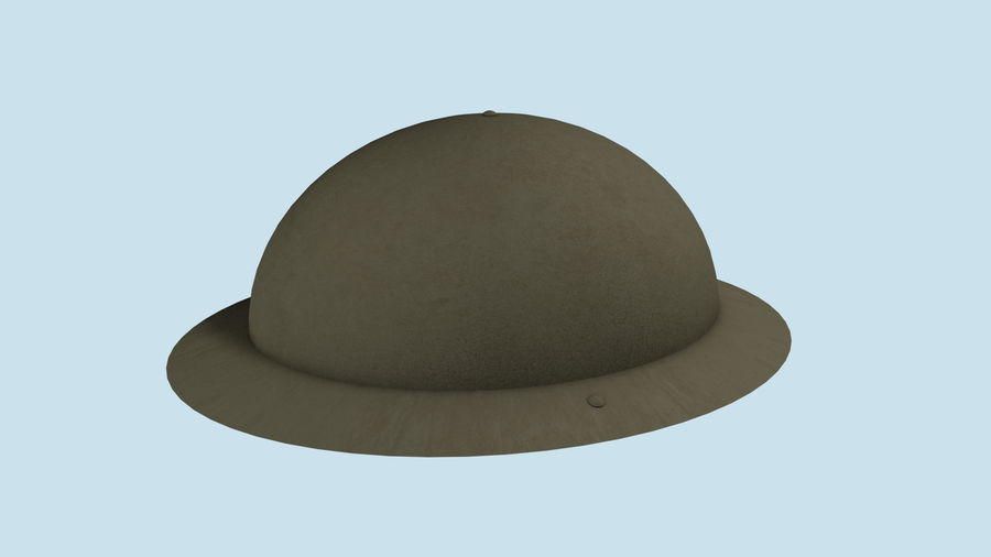 Brodie Helmet (WW1) royalty-free 3d model - Preview no. 2