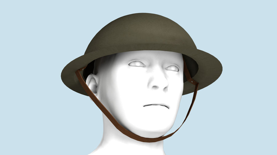Brodie Helmet (WW1) royalty-free 3d model - Preview no. 11