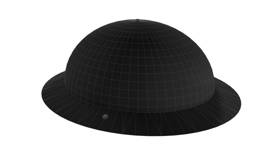 Brodie Helmet (WW1) royalty-free 3d model - Preview no. 13