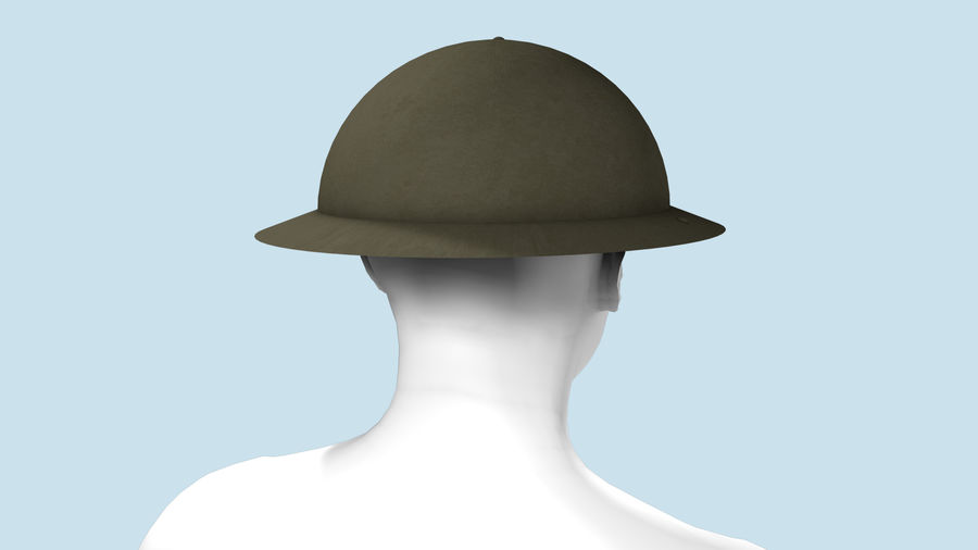 Brodie Helmet (WW1) royalty-free 3d model - Preview no. 4