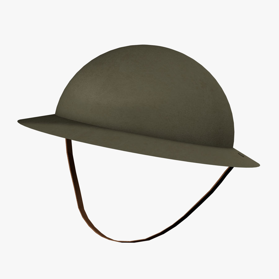 Brodie Helmet (WW1) royalty-free 3d model - Preview no. 1