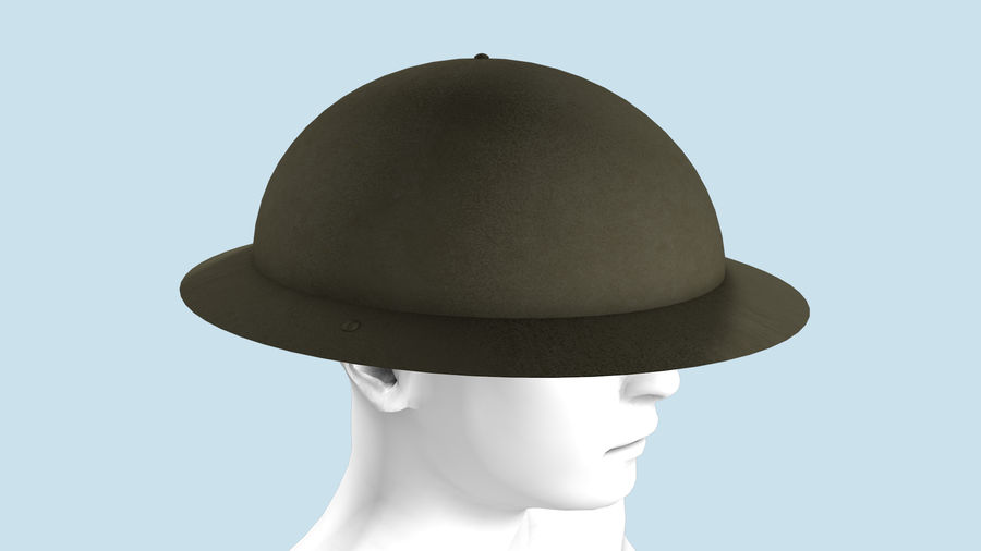 Brodie Helmet (WW1) royalty-free 3d model - Preview no. 5