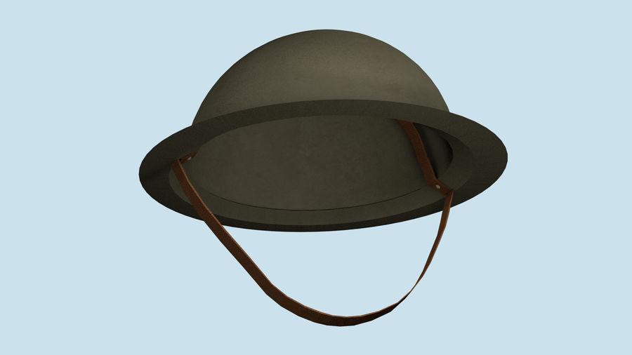 Brodie Helmet (WW1) royalty-free 3d model - Preview no. 10