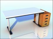 Conjunto de escritorio y gabinete modelo 3d