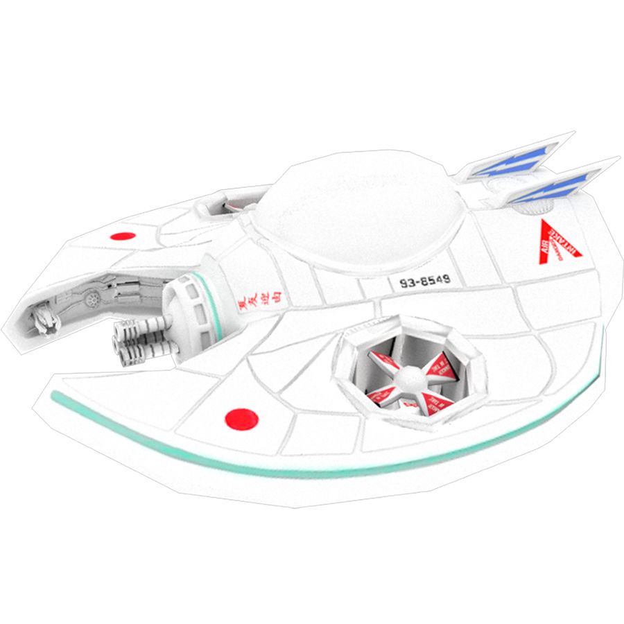 Spiel Ready Space Ship royalty-free 3d model - Preview no. 1