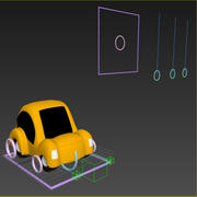 Animated Toon Car 3d model