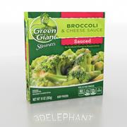 Emballage Alimentaire Congelé - Brocoli 3d model