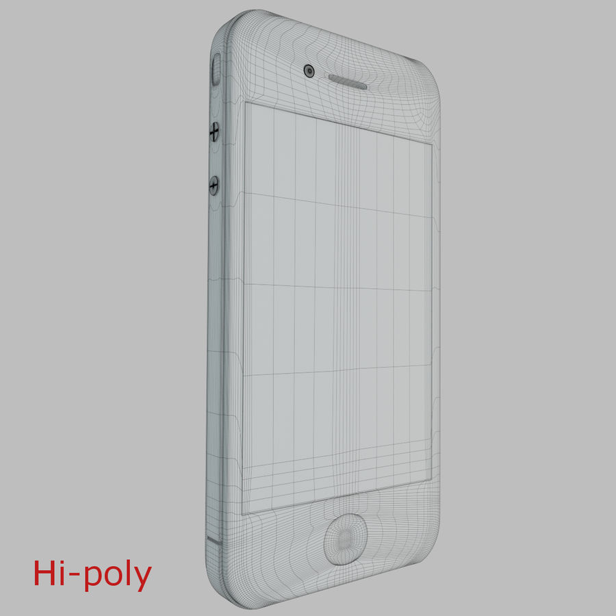 Apple iPhone 4 royalty-free 3d model - Preview no. 6