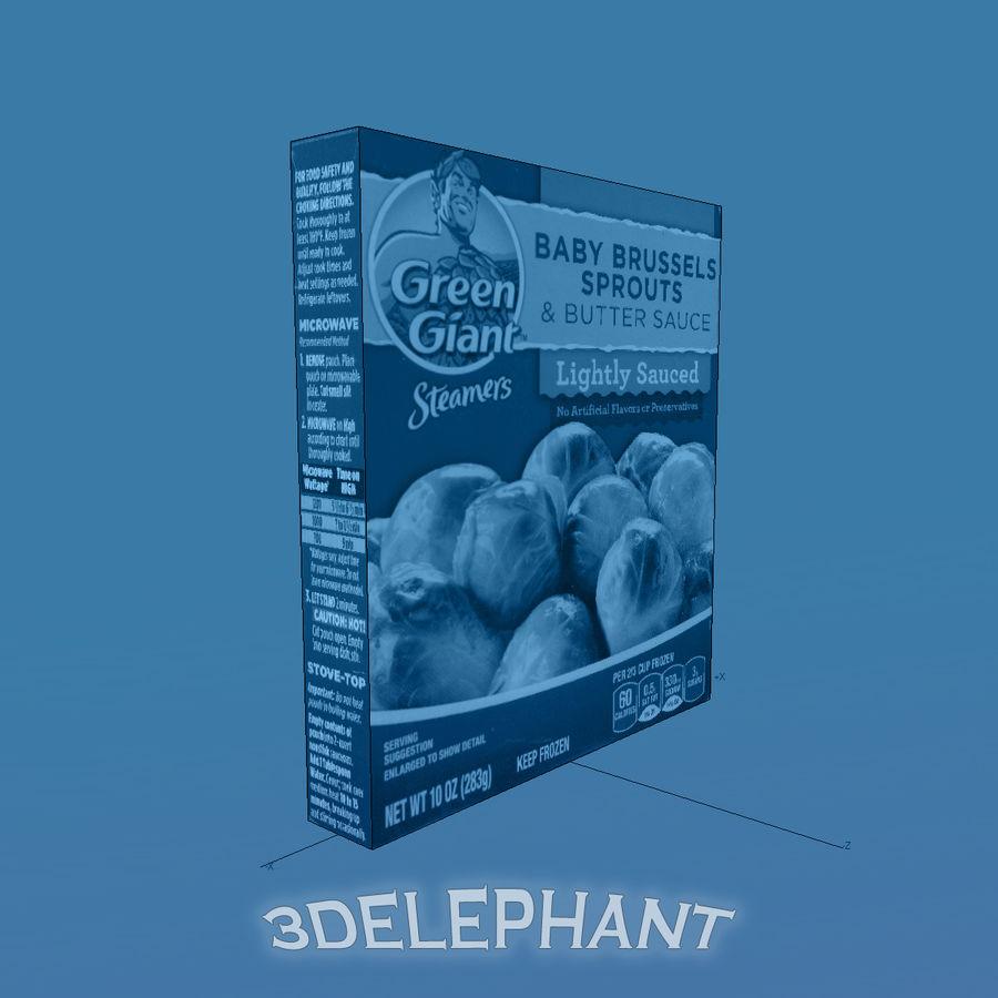 Imballaggi per alimenti surgelati - Germogli royalty-free 3d model - Preview no. 7