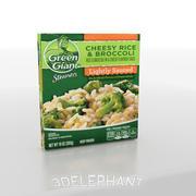 Imballaggi per alimenti surgelati - Broccoli e riso 3d model
