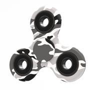 White camo spinner 3d model