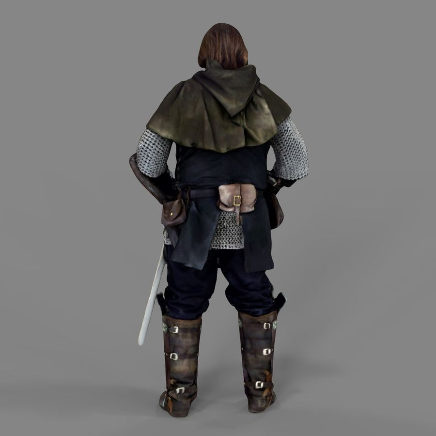 Medival knight royalty-free 3d model - Preview no. 19
