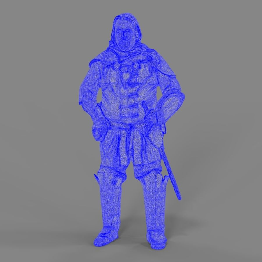 Medival knight royalty-free 3d model - Preview no. 20