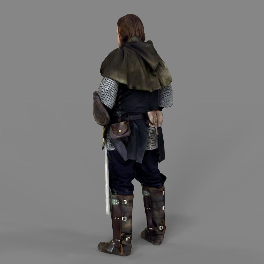 Medival knight royalty-free 3d model - Preview no. 17