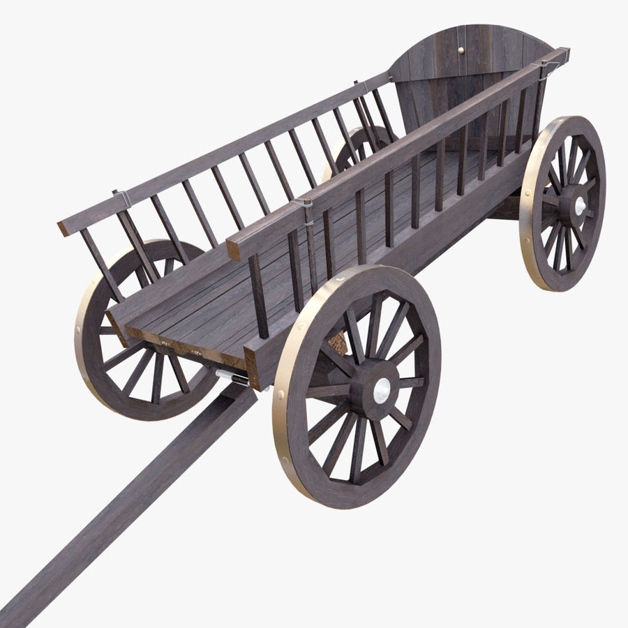 Wooden Cart 3D royalty-free 3d model - Preview no. 1