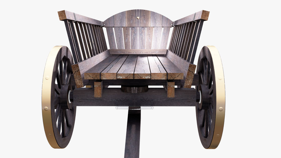 Wooden Cart 3D royalty-free 3d model - Preview no. 8