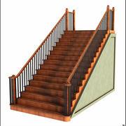 Merdiven Ahşap Ahşap V2 3d model