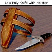 刀和皮套 3d model