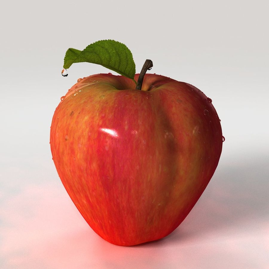 Apple Fruit royalty-free 3d model - Preview no. 9