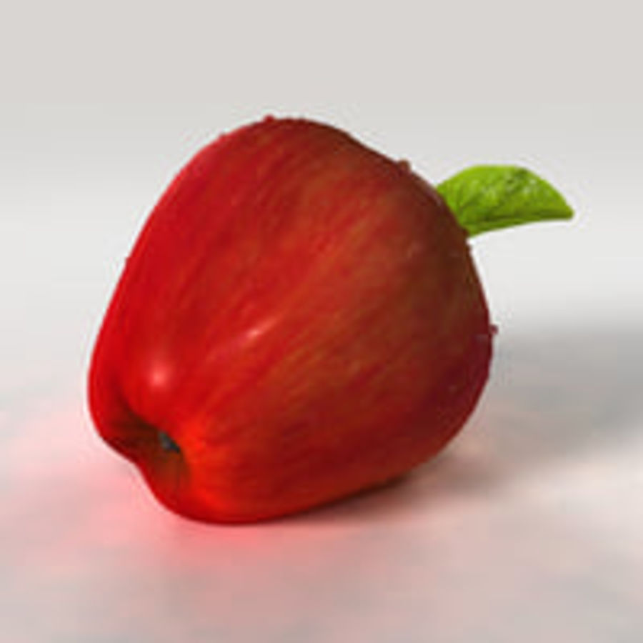 Apple Fruit royalty-free 3d model - Preview no. 7
