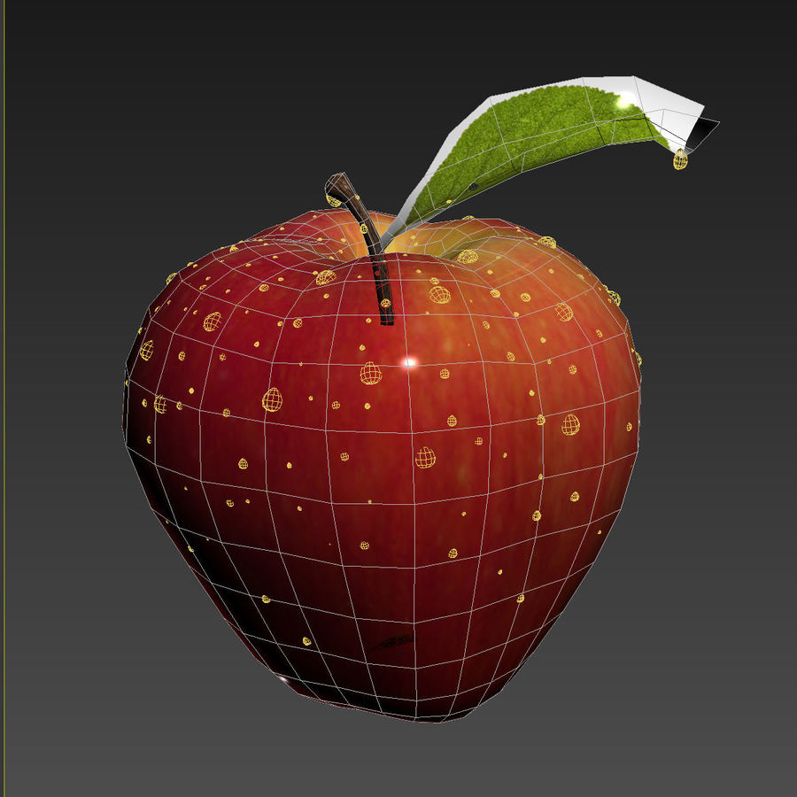 Apple Fruit royalty-free 3d model - Preview no. 11