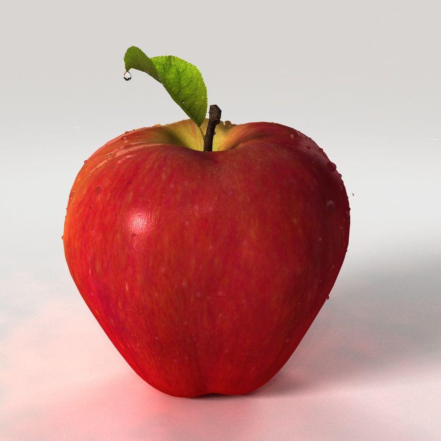 Fruta de manzana royalty-free modelo 3d - Preview no. 5